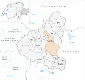 Karte der Gemeinde Scuol