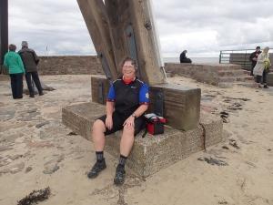An der Kugelbarke in Cuxhaven - geschafft