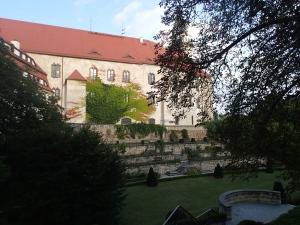 Blick auf Schloss vom Brauereirestaurant aus gesehen
