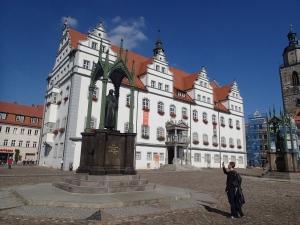 Das Rathaus in Wittenberg