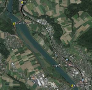 Tourenverlauf in Google Earth dargestellt