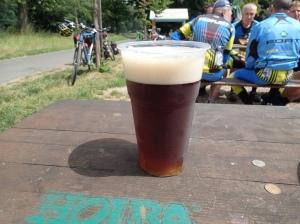 Das erste Bier - 23 Kronen (ca. 1,5 CHF oder 1,2 Euro) für einen halben Liter - so lecker:-)