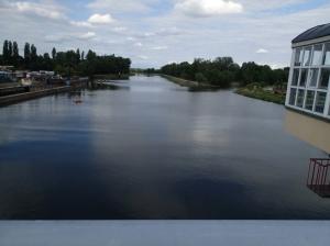 Hier endet die Schiffbarkeit der Elbe - der letzte Hafen.
